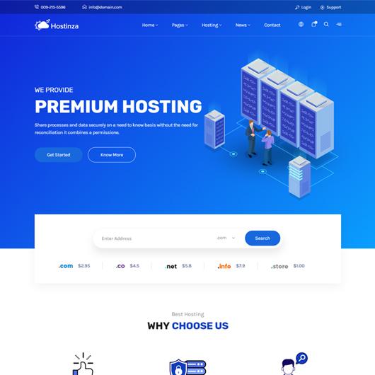Hostinza – 不错的HTML模板
