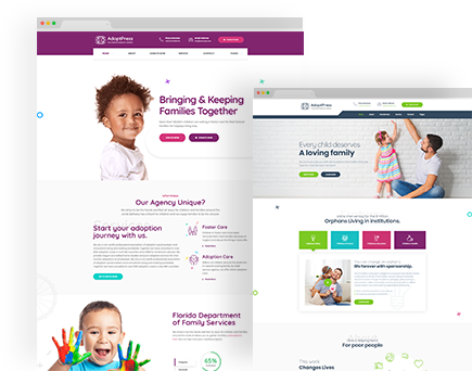 AdoptPress – Child & Pet Adoption Charity HTML Template
