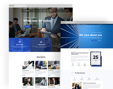 BiziPress – Finance Insurance Agency WordPress Theme