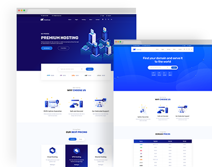 Hostinza – Isometric Web Hosting, Domain and WHMCS Html Hosting Template