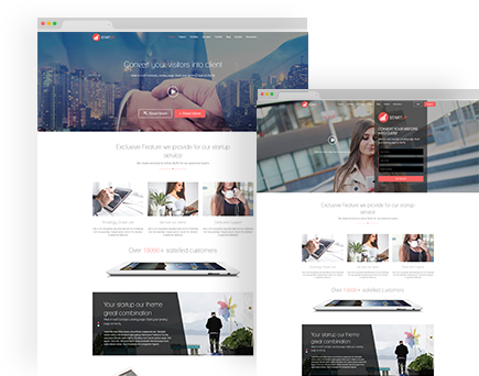 Startups Multi Concept Landing Page WordPress Theme
