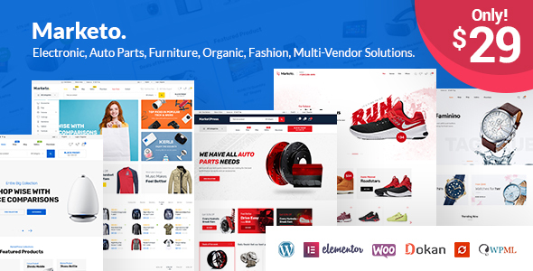 Marketo – eCommerce & Multivendor Marketplace Woocommerce WordPress Theme
