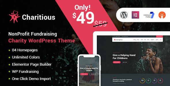 Charitious – NonProfit Fundraising Charity WordPress Theme