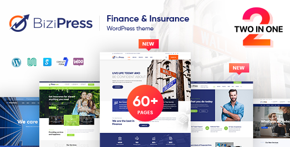 BiziPress – Finance Insurance Agency WordPress Theme