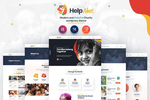 Helpnest – Charity Elementor Template Kit