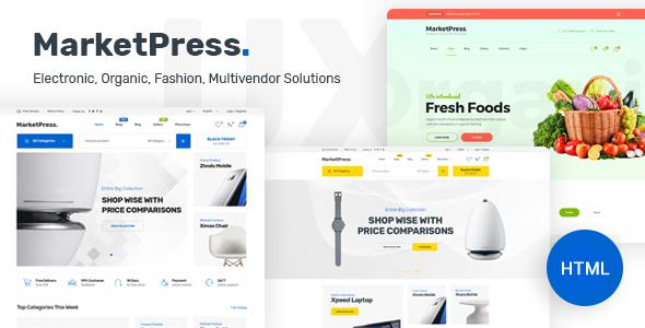 MarketPress – ECommerce & Multivendor HTML Template