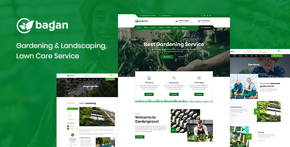 Bagan – Lawn & Garden Landscaping HTML Template