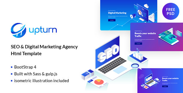 Upturn – SEO And Digital Marketing Agency Html Template