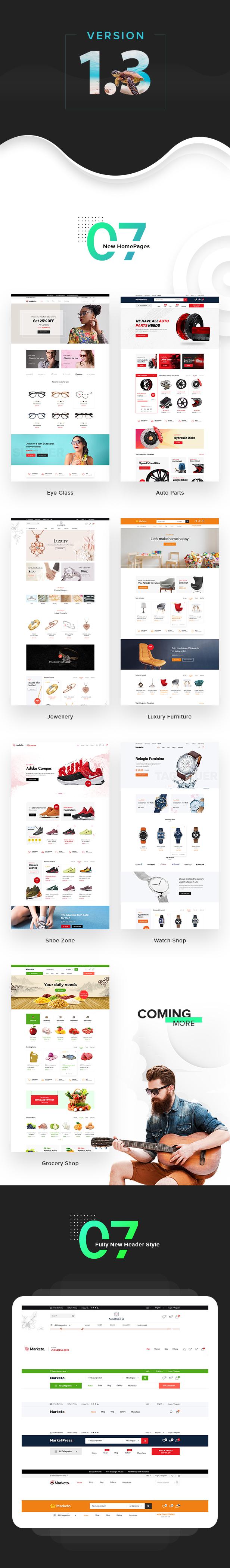 Marketo – eCommerce & Multivendor Marketplace Woocommerce WordPress Theme, Gobase64